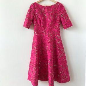 Lela Rose floral lace dress
